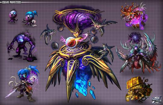 Swords and Poker Adventures Creature designs