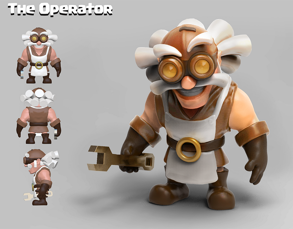 clash of clan style charactes and catapult design by Peachlab