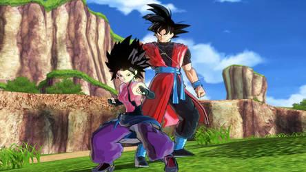 Xeno Goku and Xeno Caulifla 2 by tyleralexander123