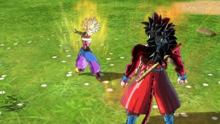 Xeno Goku and Xeno Caulifla 3 by tyleralexander123