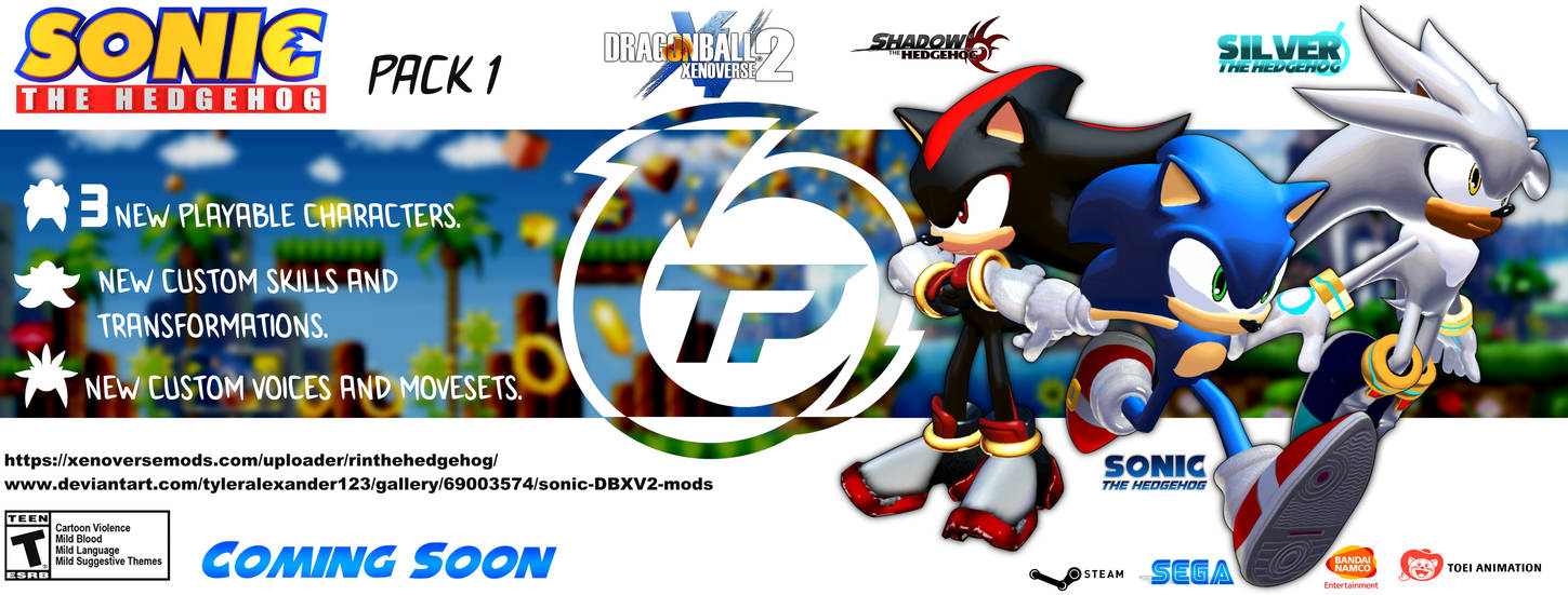Sonic The Hedgehog Mod For Xenoverse 2 Coming Soon by