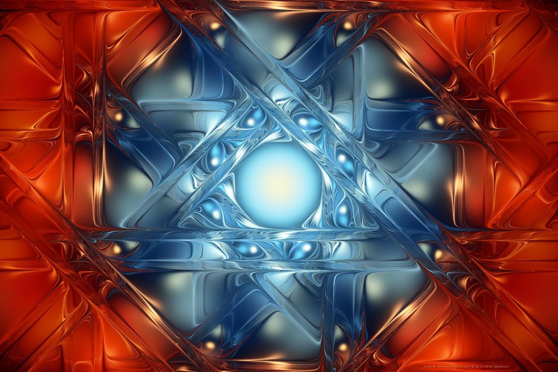 Sinusoidal Glasswork by Zueuk