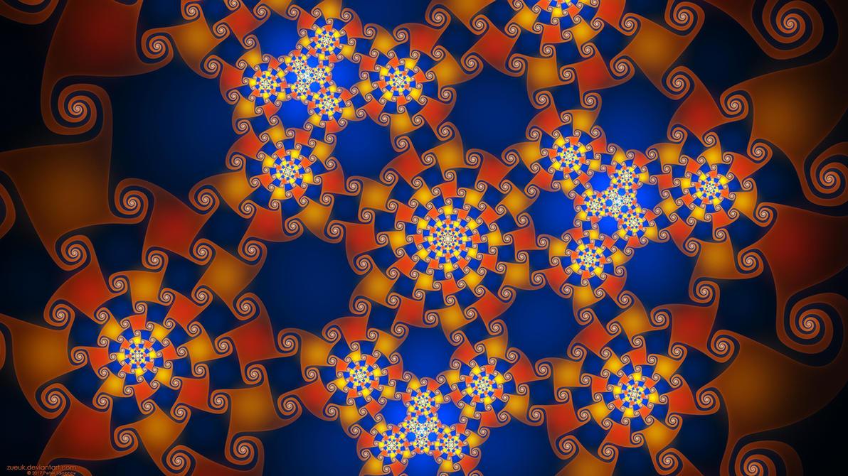 An Orange Gnarlwork by Zueuk