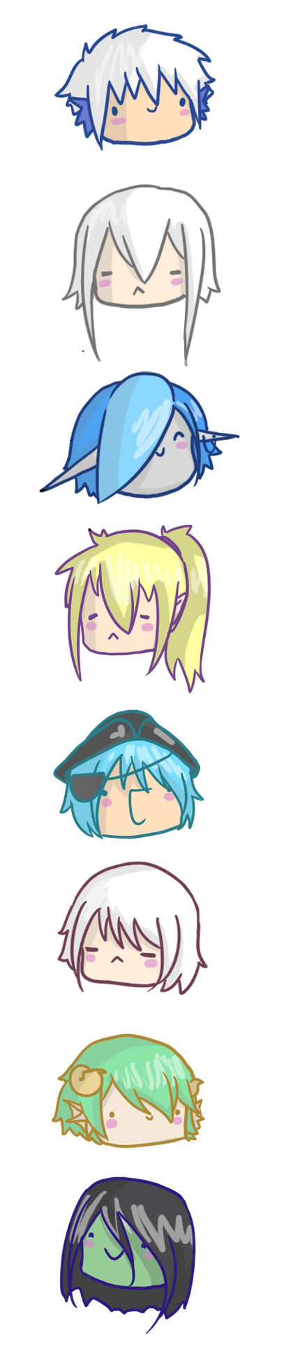 HM: Chibi Heads by Rndom-Obsessions