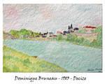 Decize watercolor by DominiqueBruneau
