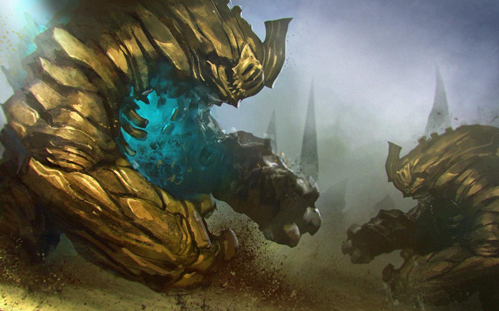 Golden golem by NeoArtCorE