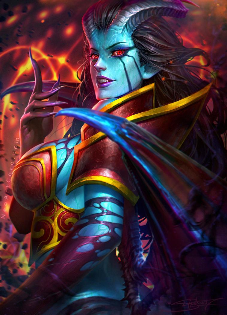 dota2 queen of pain fanart by neoartcore on deviantart