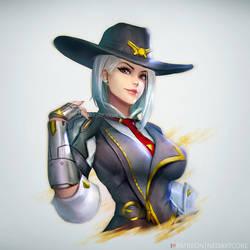 Ashe : Overwatch by NeoArtCorE