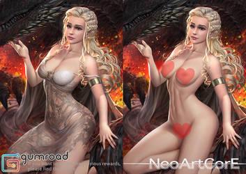 Daenerys Targaryen nsfw by NeoArtCorE