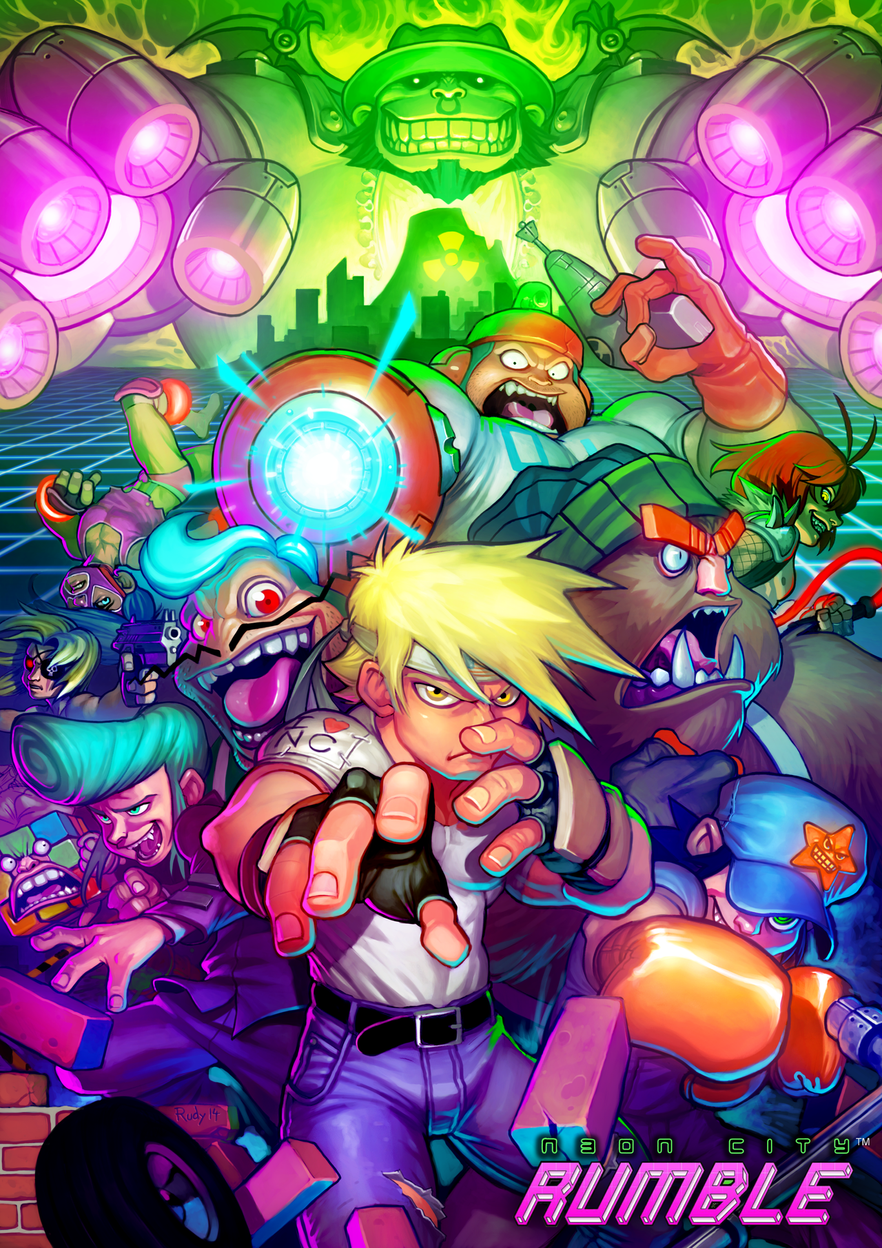 NEON CITY RUMBLE by Darkdux