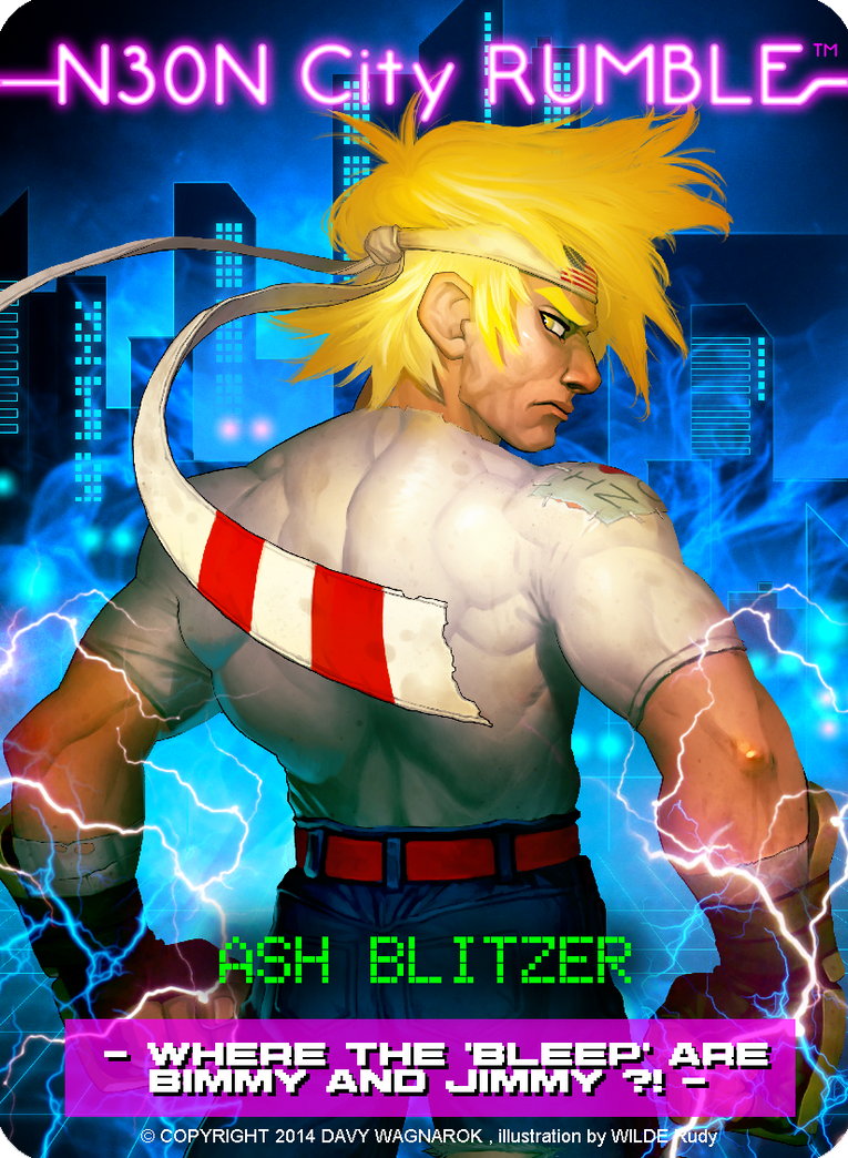 NEON CITY RUMBLE Ash Blitzer card by Darkdux