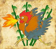Basan, the Giant Fire-Breathing Chicken (of Doom) by ah-kaziya