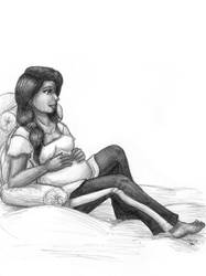 Commission - Celes Sketch by ah-kaziya