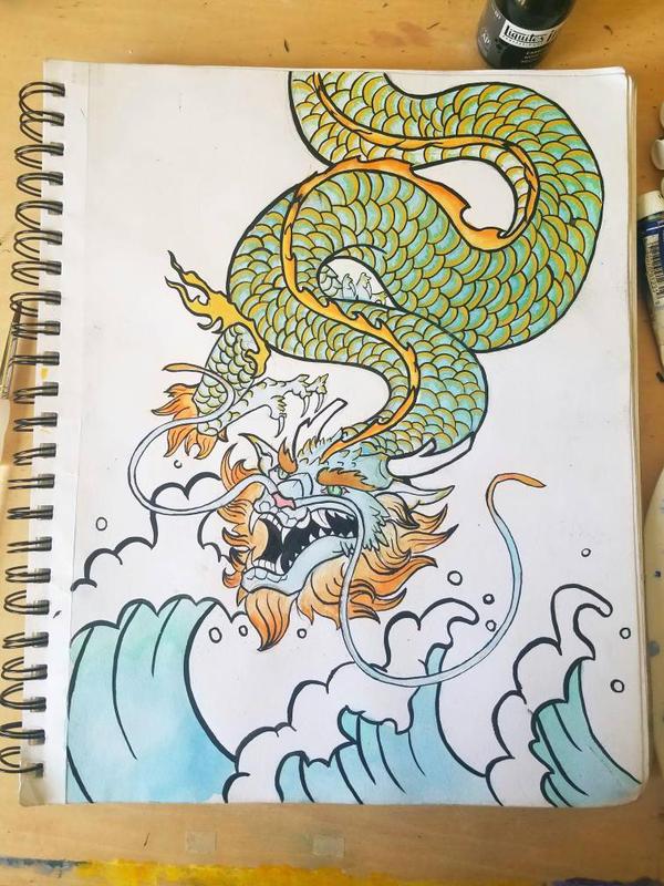 Ryujin Japanese Dragon God Of The Seas By Pyrocanoe On