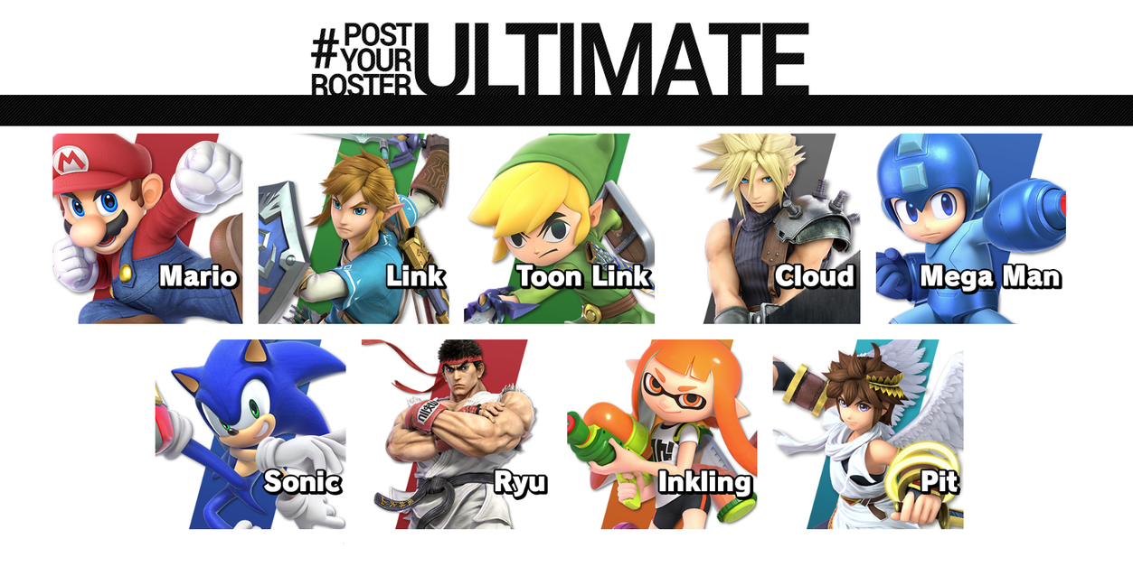 My SMB5(Ultimate) main fighters by Ernesto666