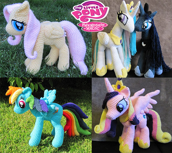 My Little Pony Amigurumi Pattern Free : My Little Pony by NerdyKnitterDesigns on DeviantArt