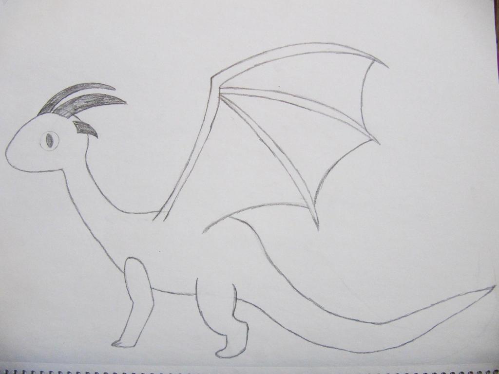 Dragon Rough Sketch by NerdyKnitterDesigns