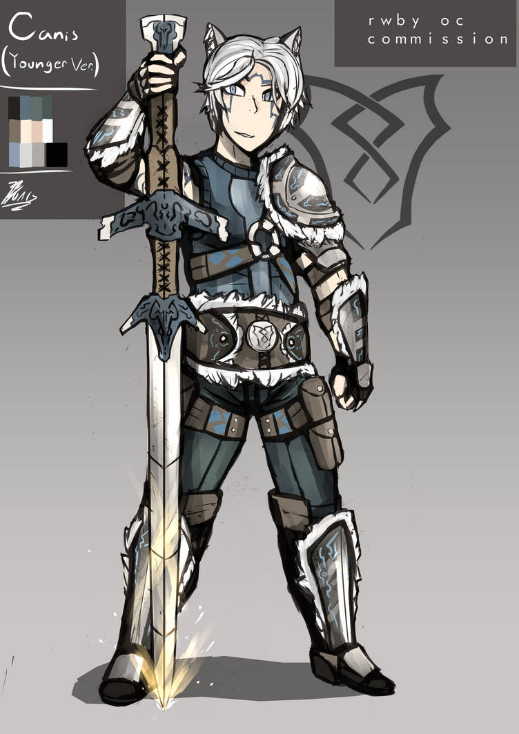 RWBY OC Commission - Canis Lupus (Younger Ver ) by Nakama