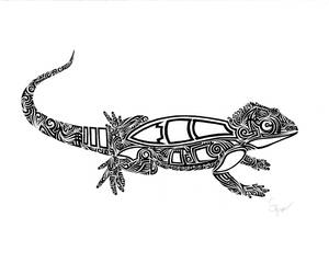 Tribal Lizard