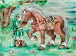 Link and Epona Children