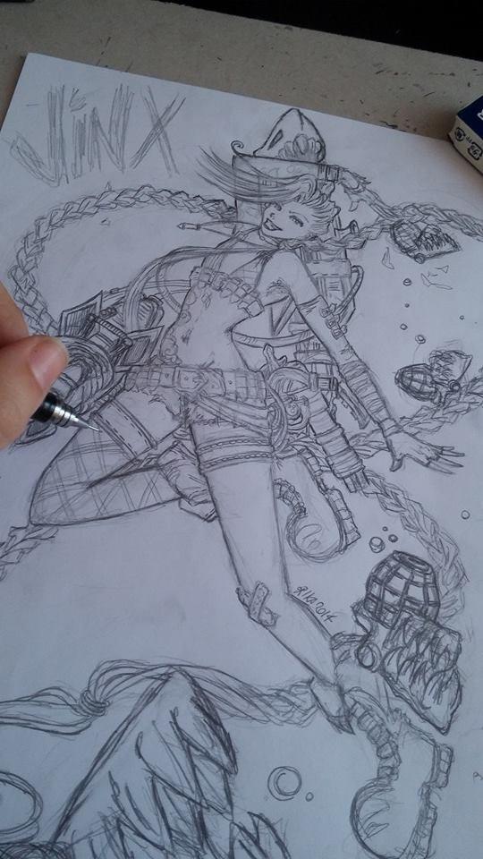 Jinx LOL: work in progress by darynoir