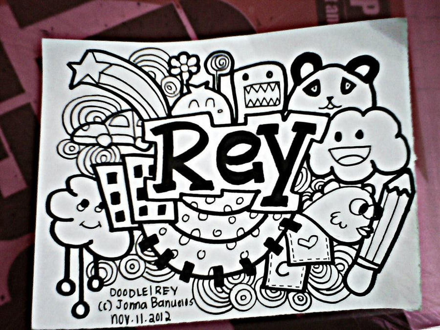 Doodle for rey by jonnameetsart on deviantart for Simple doodle designs with names