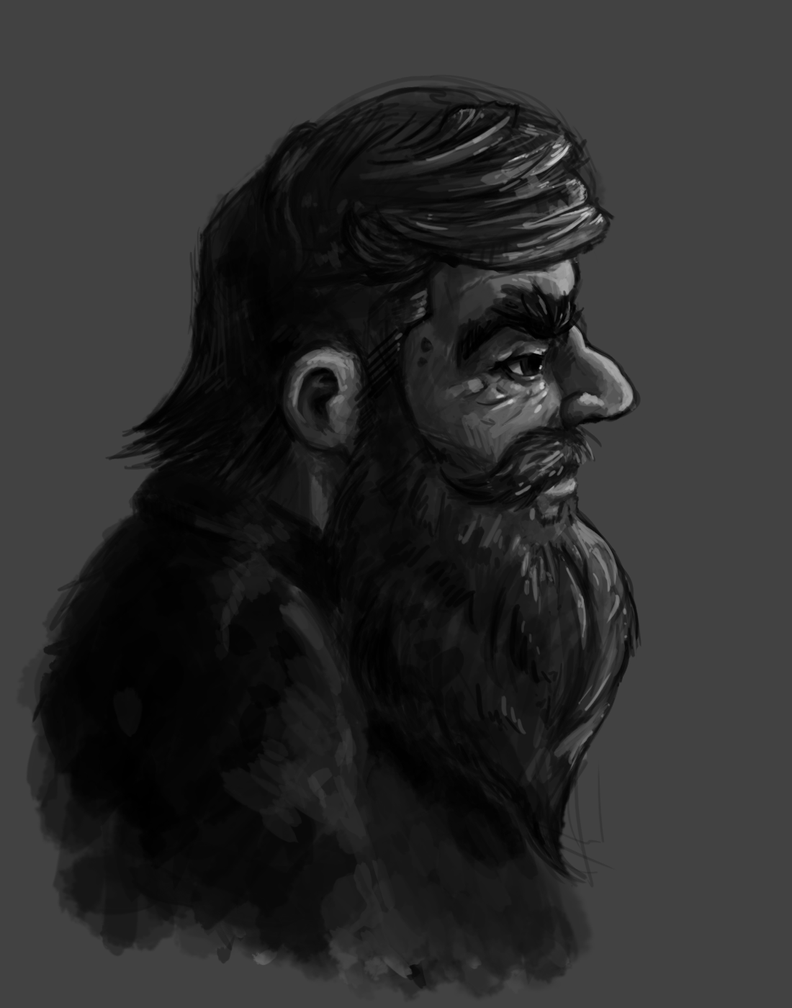Portrait - A Dwarf by Adoron
