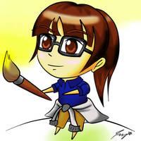 Self Portrait (Anime version) by ppeach444