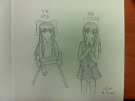 Aya and Misao from Mad Father and Misao by ppeach444