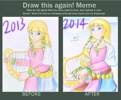 Draw This Again meme 2013 vs 2014 by ppeach444