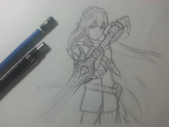 Lucina - Fire Emblem: Awakening (Sketch) by ppeach444