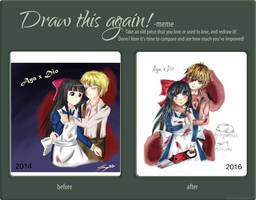 Aya X Dio - Draw this again by ppeach444