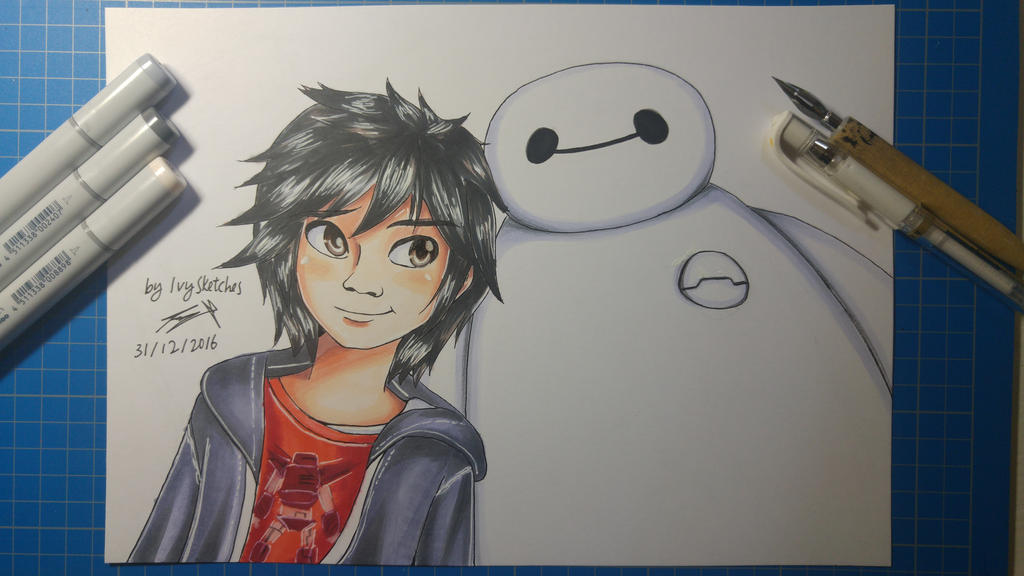 Hiro and Baymax - Big Hero 6 by ppeach444