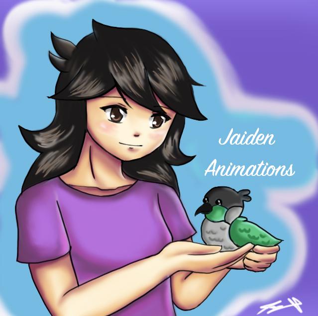 Jaiden Animations Fan Art (Feat. Ari) by ppeach444