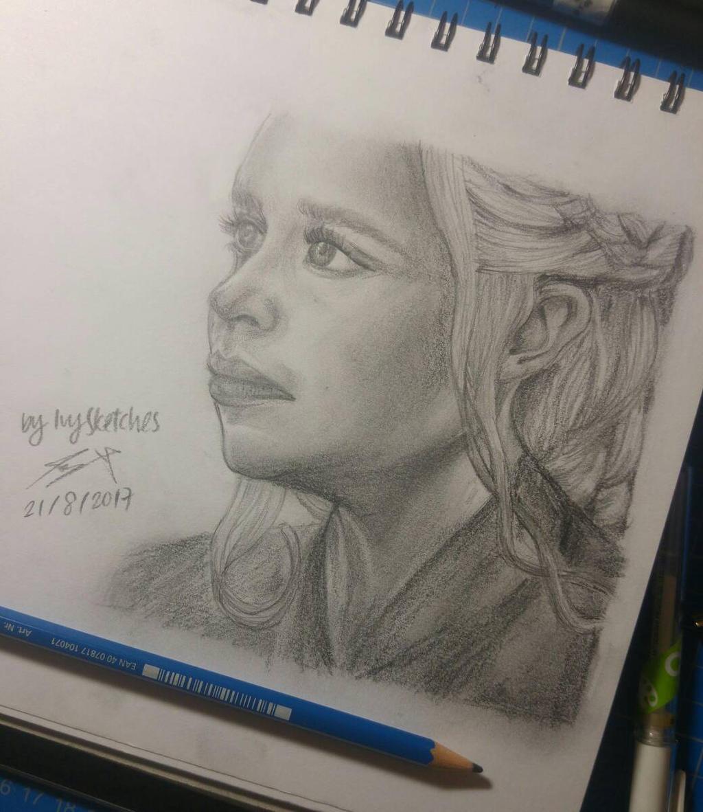 Daenerys Targaryen sketch by ppeach444