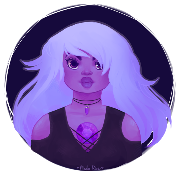 some kind of gothy amethyst I guess? I always wanted to draw something steven universe related but never got around to do one until now. she's my favorite gem and I feel like I relate to her so muc...