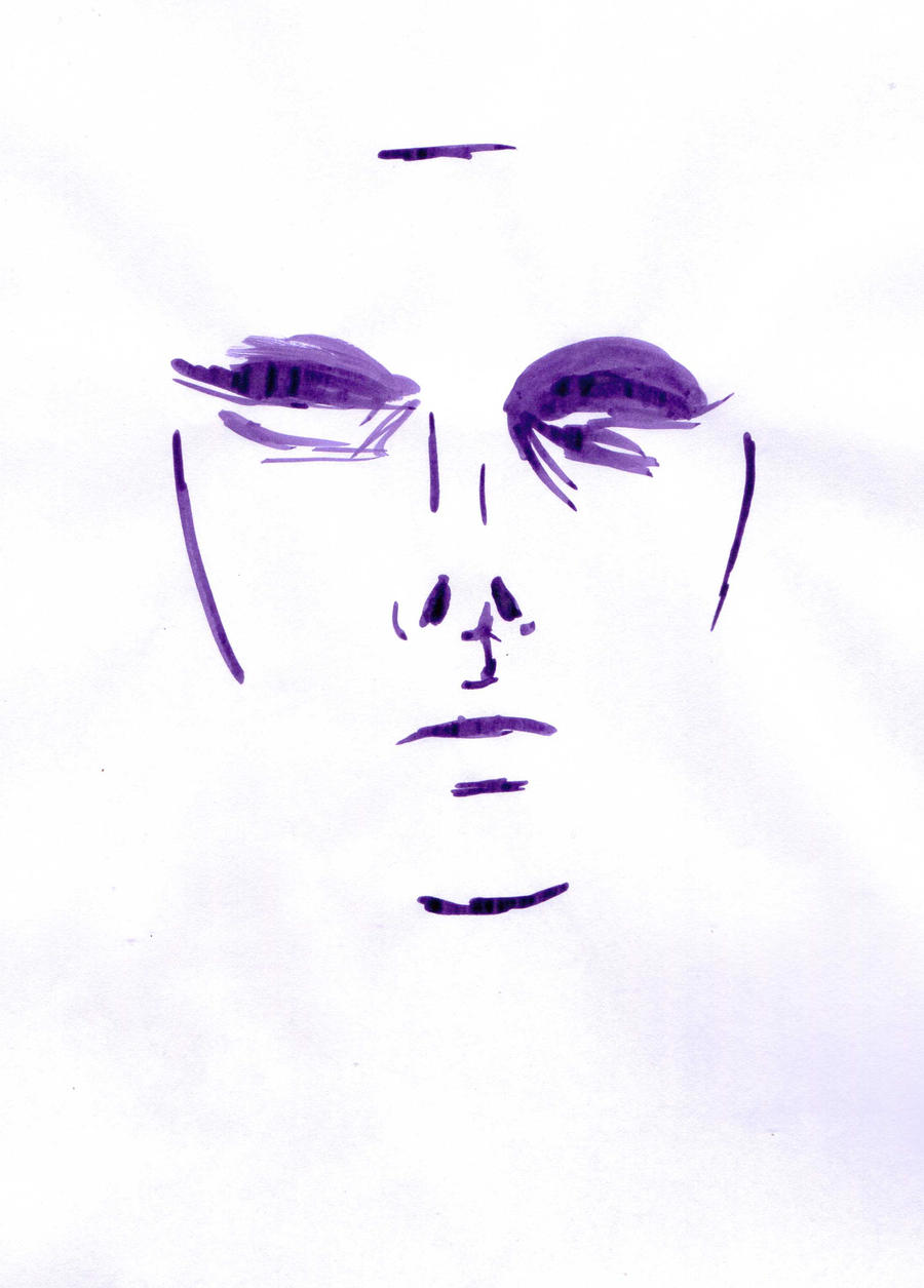 Purple Ink Series - Face by letmeusemyname