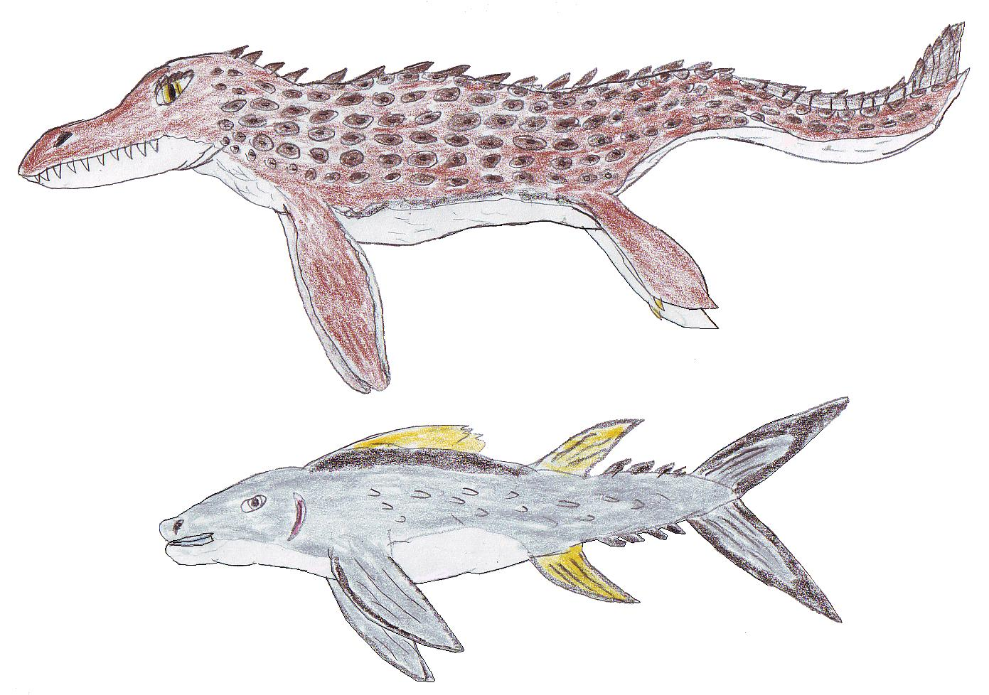 Cenozoic Mosasaur- Giant Tuna by Dinalfos5 on DeviantArt