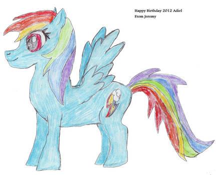 Happy Birthday Adiel 2012- Rainbow Dash