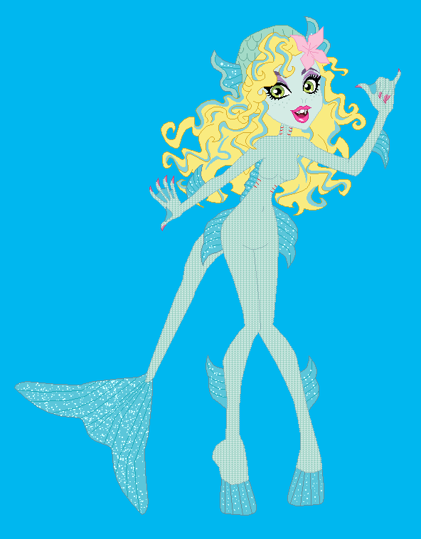 Monster High Lagoona Blue True GillGirl form by Dinalfos5 on