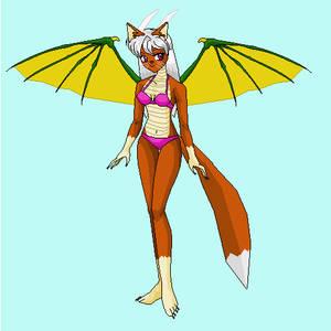Victoria the Fox Dragon Anthro bikini