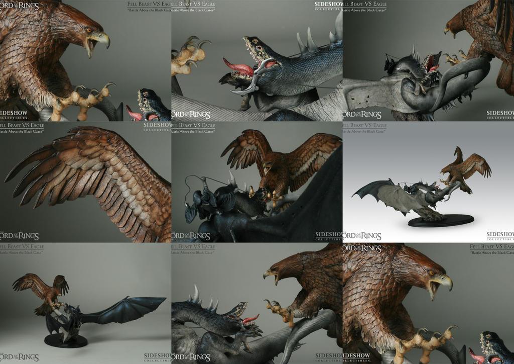 Eagle Vs Dragon Drawing Fell Beast VS Eagle by...