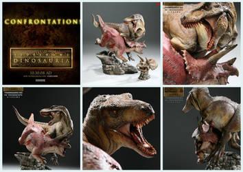 T-Rex vs Triceratops by taboada