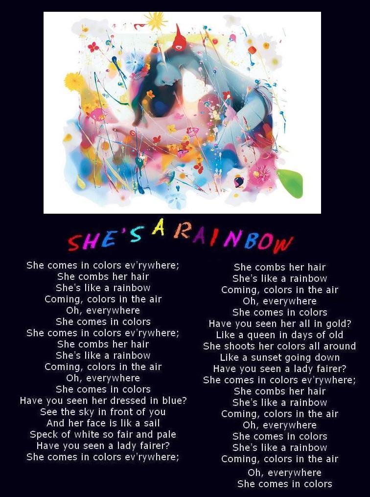 She's A Rainbow by Neilio069