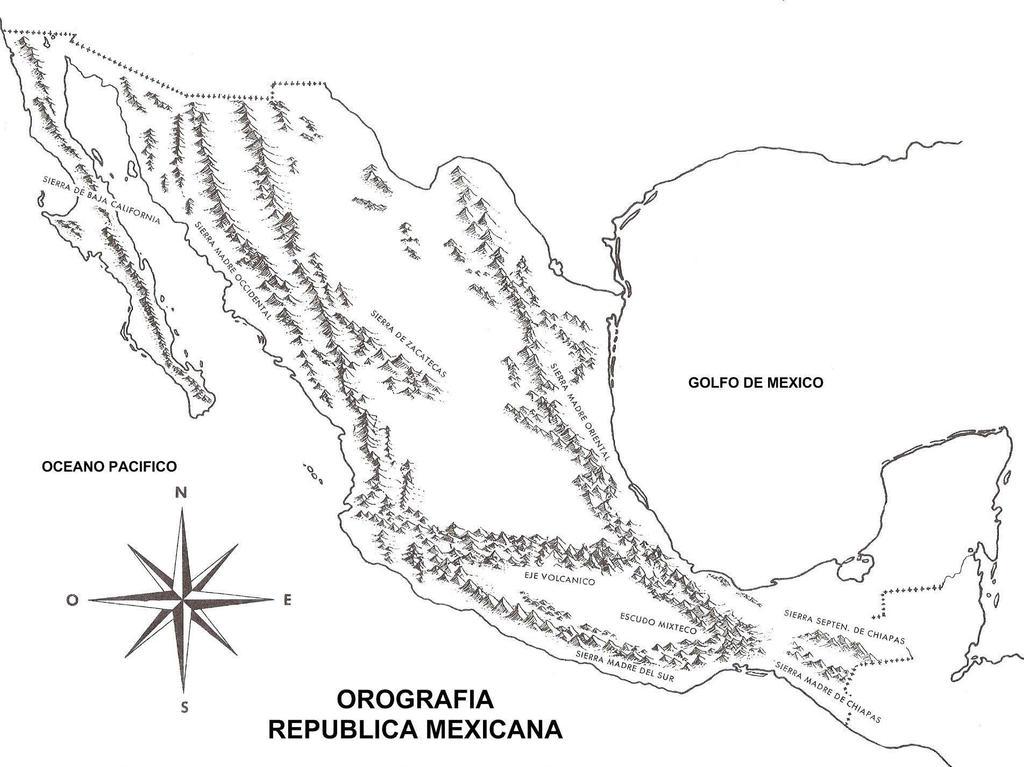 Mapa De Orografia De La Republica Mexicana By Gianferdinand On