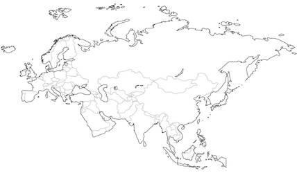 Mapa de Europa y Asia para colorear JPG