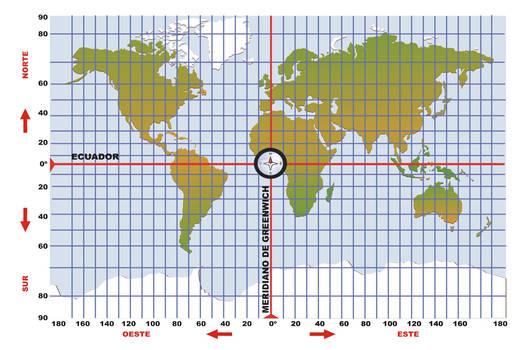 Mapa mundial con paralelos y meridianos JPG