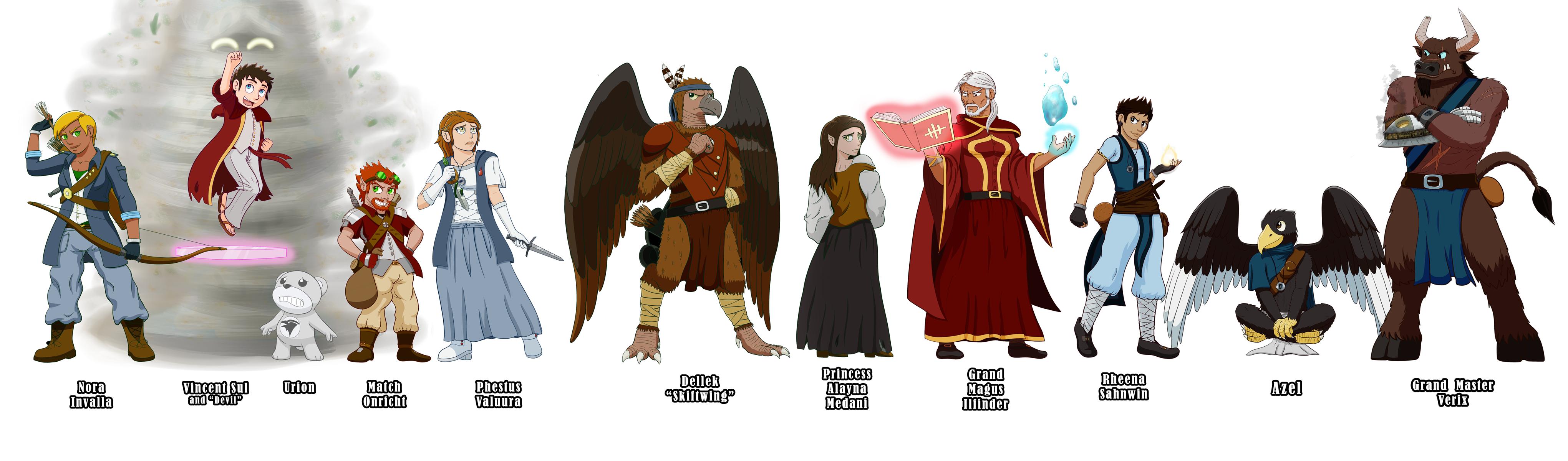 Character Design Challenge 2017 : Character design challenge dnd npcs complete by rasarak