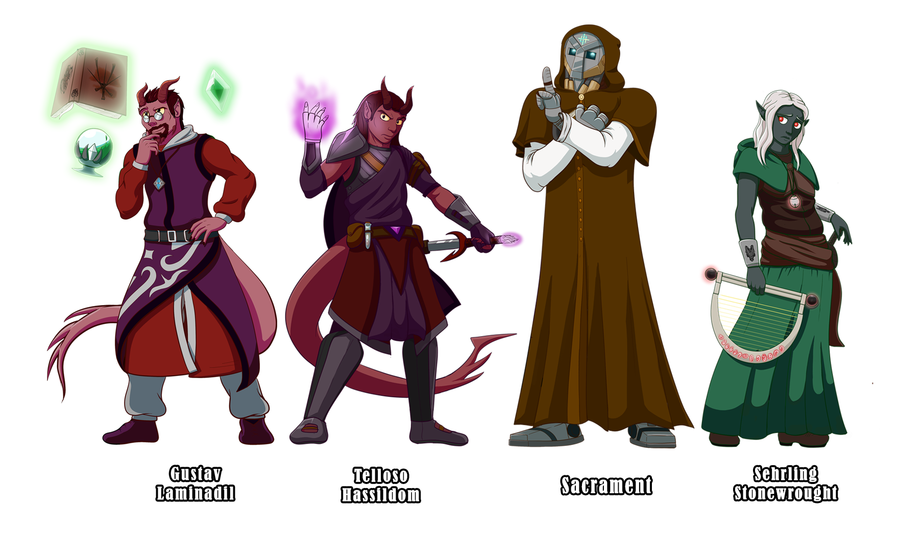 Character Design Drawing Challenge : Character design challenge dnd npcs by rasarak on