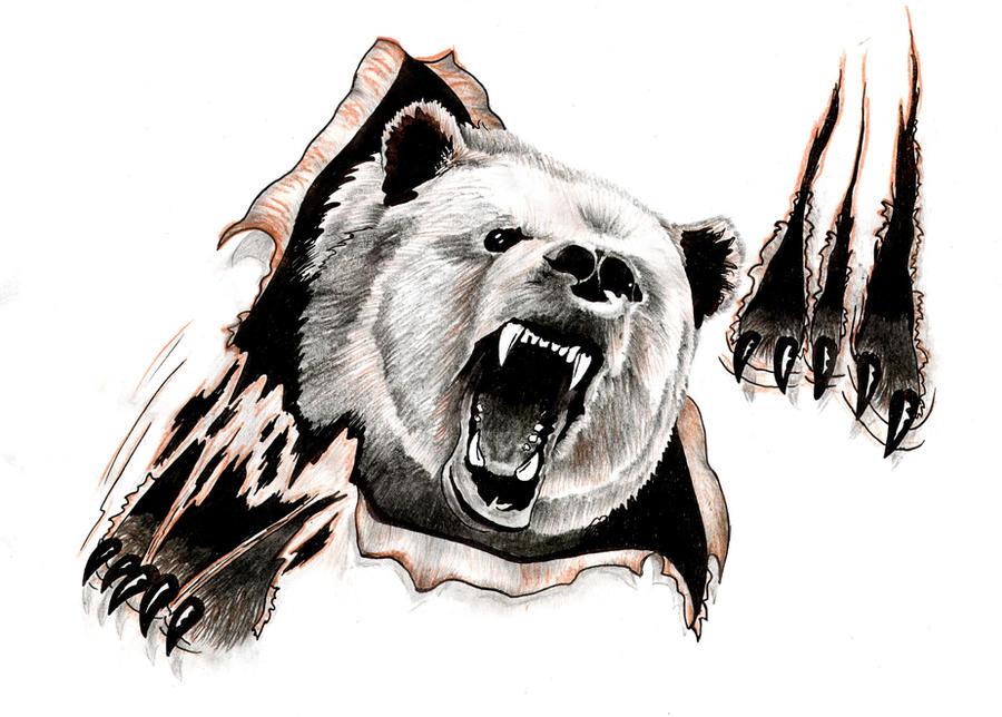 Bear design by ReedmooleyTattoosRoaring Bear Clip Art